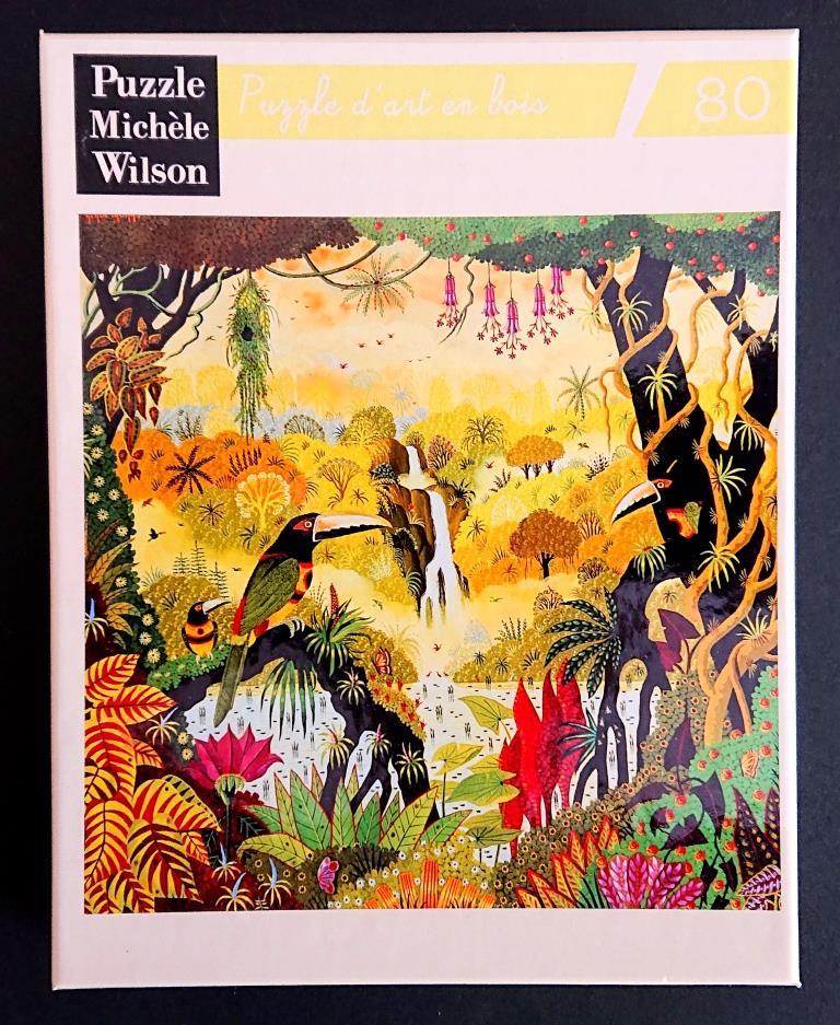Puzzles Michele Wilson - Alain Thomas - Toucans a la Cascade - 80 pieces