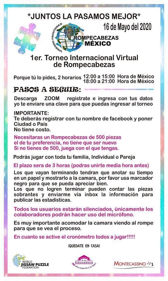 1er Torneo Internacional Virtual de Rompecabezas Mexico