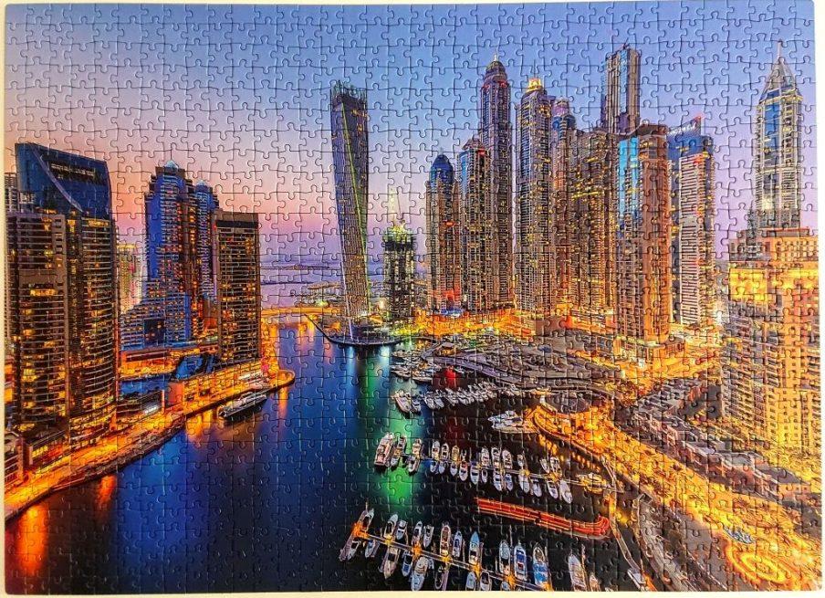 Clementoni Puzzle - 98968 - Fluorescent Dubai - 1000 pieces